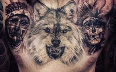 Hình xăm chó sói 3d đẹp ý nghĩa